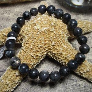 Jewelry - 8mm Larvikite Gemstone Crystal Bracelet